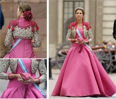 Princesa Victoria, Flamenco Costume, Vestidos Color Rosa, Princess Victoria Of Sweden, Spanish Royal Family, Playing Dress Up, Pink Dress, Evening Gowns, Glamour
