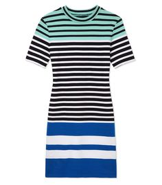 T by Alexander Wang: Cotton Stripe Mini Dress