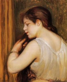 The Coiffure aka Young Girl Combing Her Hair : Pierre Auguste Renoir : Museum Art Images : Museuma
