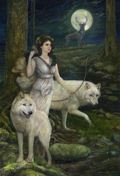 """Artemis"" 30x44 oil on wood panel August 2013 (Artist: Annie Stegg)"