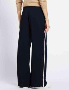 Wide Side Striped Trousers