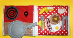 Let's Cook Breakfast Quiet Book Page