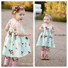 Bebê Hummingbird - vestido de verão das meninas - NB para tamanho 3 - padrão PDF - Add On Pattern