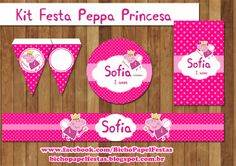 Kit Festa Peppa Pig Princesa Para Imprimir Gr�tis