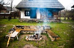 The Village Hotel Maramures Traditional Modern Kitchens, Traditional House, Landscape Drainage, Landscape Solutions, Village Hotel, Old Cabins, Adobe House, Little Houses, Old Houses