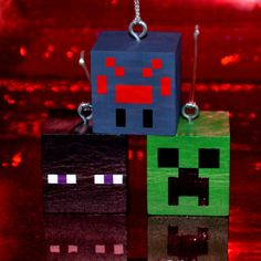 Personalized Minecraft Ornaments Set 1 Mobs by LetzCreate on Etsy
