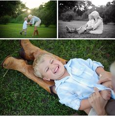Mother son photo poses. Love the one of him laying on her legs!