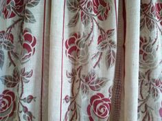 Period ARTS and CRAFTS movement curtain panel Charles Rennie Mackintosh Style Roses textile design via Etsy