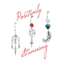 """Positively Stunning Belly Rings"" by bodycandy on Polyvore #handcrafted #Swarovski #crystal #bellyring #piercings #bellyrings"