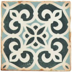Merola Tile Klinker Retro Blanco Dafodil Encaustic in. Ceramic Floor and Wall Quarry - The Home Depot Ceramic Subway Tile, Ceramic Mosaic Tile, Ceramic Flooring, Concrete Floors, Fireplace Surrounds, Wall Patterns, Geometric Patterns, Stone Tiles, Kitchen Flooring