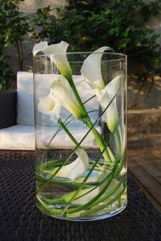 vase de calla blanc