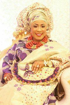Nigerian Bride.....in Yoruba attire