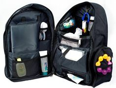 Okkatots Travel Baby Depot Backpack Bag - Black - why do they come up with cool stuff after I don't need them?????