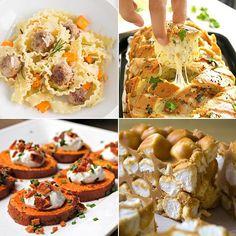 Turkey and Sweet Potato Pasta & No-Bake Peanut Butter Marshmallow Squares Delicious Links