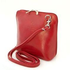 6ddfc33177588 Vera Pelle Taschen Italien Echt Leder Schultertasche Frauen Damen Tasche  Handtasche Ital Bag (Grün)