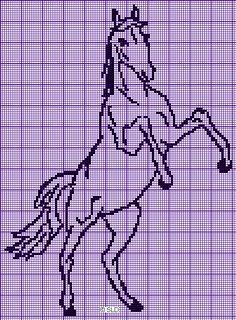 Crochet Motifs, Crochet Chart, Crochet Patterns, Cross Stitching, Cross Stitch Embroidery, Hand Embroidery, Cross Stitch Designs, Cross Stitch Patterns, Cross Stitch Horse