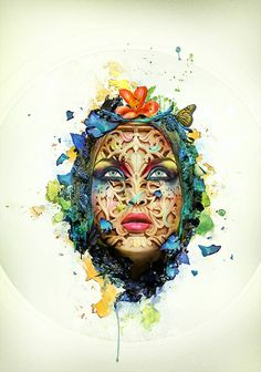 Create a Beautiful Abstract Portrait in #Photoshop