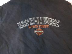 Harley Davidson Motor Cycles L large long sleeve zip up hoody black GUC