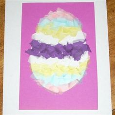 Stained glass easter egg craft