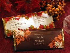 fall wedding favors | AUTUMN FALL large candy wrapper favors - wedding bridal baby shower ...