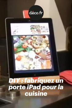 Aujourd'hui, Tom vous fait découvrir en vidéo comment réaliser un joli support pour iPad en bois et personnalisable au gré de vos envies. Rapide à fabriquer et résistant, il sera idéal dans votre cuisine pour vous aider à réaliser vos plus belles recettes ! Support, Hui, Recipes, Kitchens