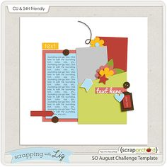 August Template Challenge at Scrap Orchard {Limited Time Digital Scrapbook Template}