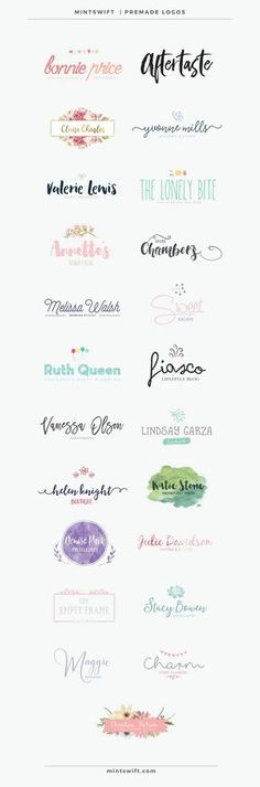MintSwift Premade Logos | MintSwift Shop | Premade branding | Branding on budget | Logo design templates | Affordable logo design | Branding kit | Feminine logo design | Branding | Premade Logo | Logo Design | Watercolor Logo | Photography Logo | Small Business Logo | Business Logo | Blogger Logo | Branding