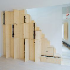 10 space-saving furniture designs for small homes: Staircase made of cupboards by Schemaa