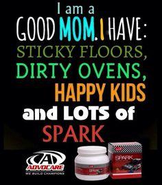 AdvoCare Spark = Mommy Juice! For more information, please e-mail me at jessibenavidez24@gmail.com or visit www.AdvoFitnessAndWellness.com
