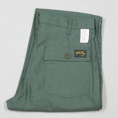 Taper 107 4-Pocket Fatigue Pant - Olive Sateen