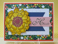 Blended Bloom colored with Blendabilities by Stampin' Up! The Paper Players Sketch, PP206 by Savvy Handmade Cards.