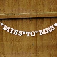 Wish | Hl-Miss To Mrs Banner Bunting Bridal Shower Bachelorette Hen Party Night Decoration (Size: 3 m, Color: Multicolor)