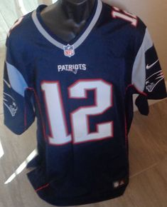 df1579539 It is a Nike on field jersey in red white and blue. All of the numbers and  letters or stitched.