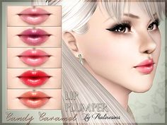Candy Caramel Lip Plumper by Pralinesims - Sims 3 Downloads CC Caboodle