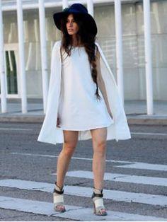 Shop White Chiffon Cloak Dress from choies.com .Free shipping Worldwide.$43.99