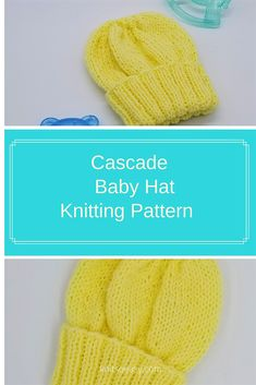 The Cascade Baby Hat is a quick & easy basic beanie pattern, but with enough extra ribbing to turn up a cuff.