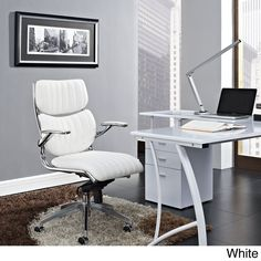 Modway Jaunt Highback Office Chair (White Chair)
