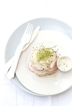fennel, radish and leek sprouts salad by barbaraT pane, via Flickr