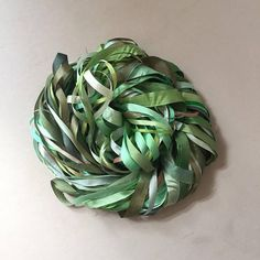 Silk Ribbon Remnants - Green and Brown Silk Ribbon, Green And Brown, Knots, Colours, Flowers, Handmade, Stuff To Buy, We, Mesh Ribbon