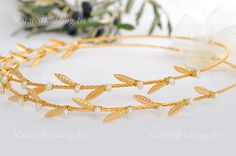 STEFANA Greek Crowns 130$ Ancient Greek Style Gold by NatalysWeddingArt