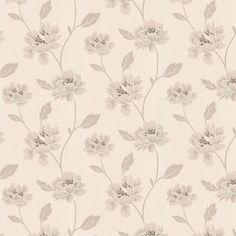 Peony White & Cream Wallpaper
