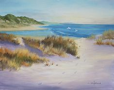 How to Paint Sand Dunes on The Beach in Oil — Art by Nolan