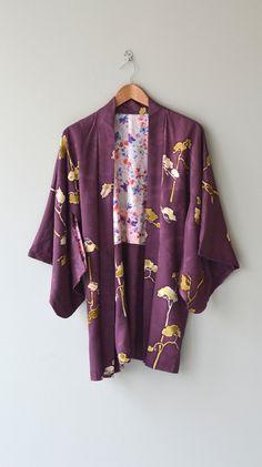 Umeboshi haori jacket vintage japanese silk haori by DearGolden