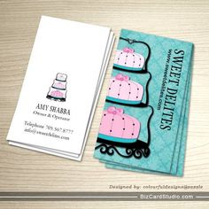 Sweet desserts business cards this great business card design is cake designer business card reheart Choice Image