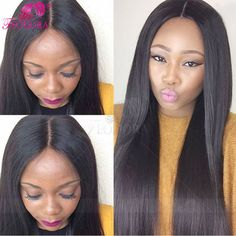 Silk Top Lace Front Wig Silky Straight Glueless Full Lace Human Hair Wigs For Black Women 7A Virgin Brazilian 4*4 Silk Base wigs