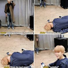 I want to be Jimin, so that I can take pictures of Namjoon