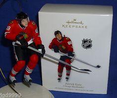 Hallmark NHL Hockey Christmas Ornament Patrick Kane 2010 Chicago Blackhawks