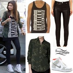 Zendaya...don't like the wording on her shirt but u know I love the hightops!