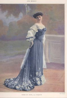 Jeanne Paquin, evening dress, 1903