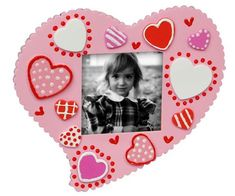 Foam Heart Frame. Easy project that's great for kids to make with their parents!